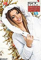 Куртка Дутая женская белая