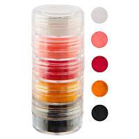 Набор цветной акриловой пудры в тубе, 5 цветов, 10 мл NEW №01