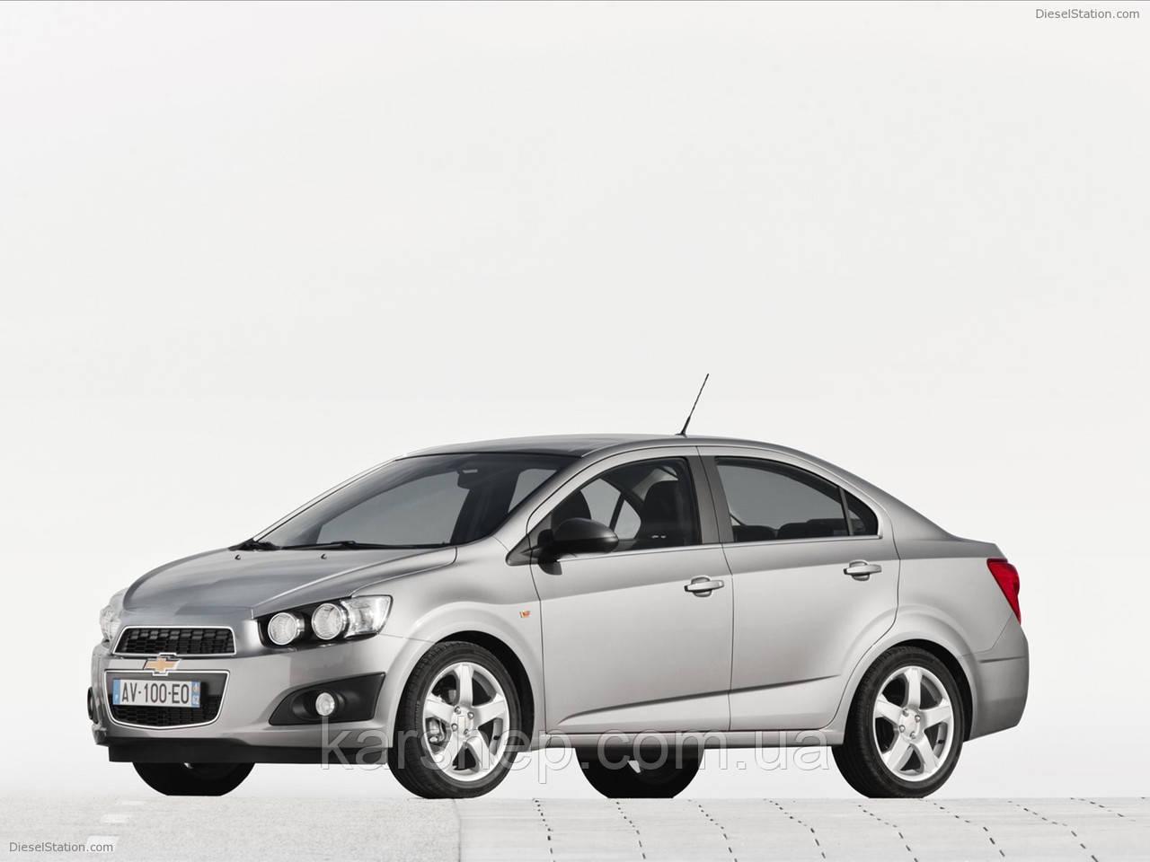 Ветровики для Chevrolet Aveo c 2011 г.в. Sedan