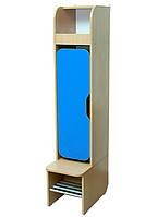Шкаф детский 1-секция с фигурной дверью, хромированные трубы (32641)
