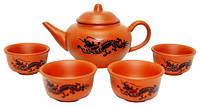 Набор для чайной церемонии из керамики, чайник 130 мл, пиалы 25 мл,  145х80х90