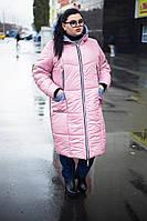 Зимнее женское  пальто батал 52-66 размеров