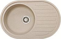 Мойка для кухни с крылом овальная песок Galati Elegancia 77 см