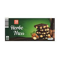 Шоколад черный HERBE Nuss 200 г цельный фундук