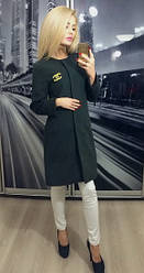 Пальто кашемир на подкладке серый