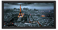Репродукція в рамі вечірній Париж з висоти