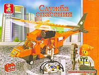 """Конструктор SLUBAN """"Служба спасения вертолет"""", 160 деталей"""
