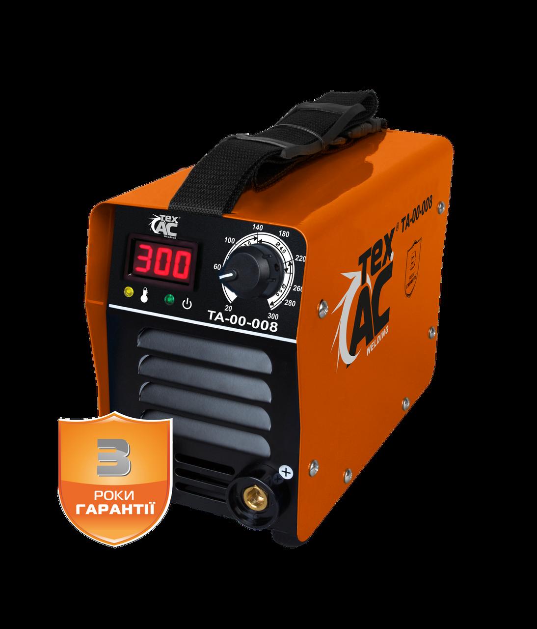 Сварочный инвертор ТехАС ММА-300 с дисплеем