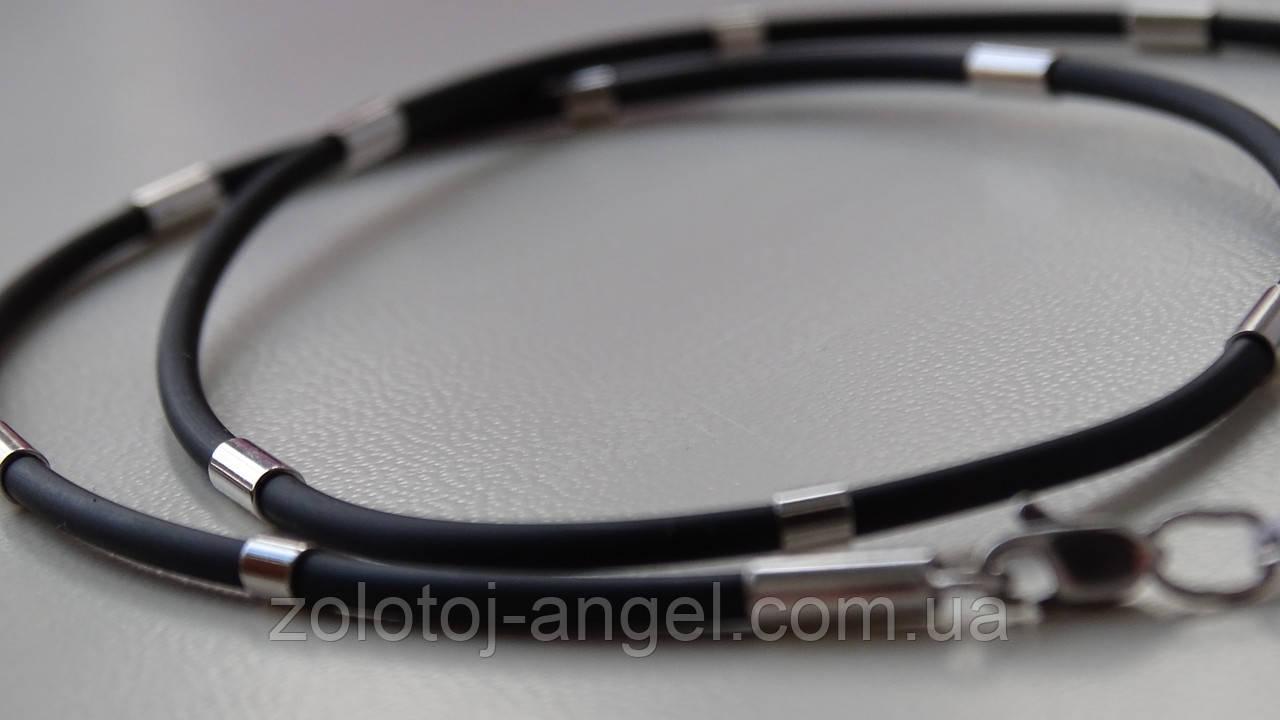 Каучуковая цепь с серебряными пластинами