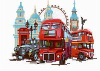 Схема для вышивки бисером POINT ART Лондонский транспорт, размер 28х20 см