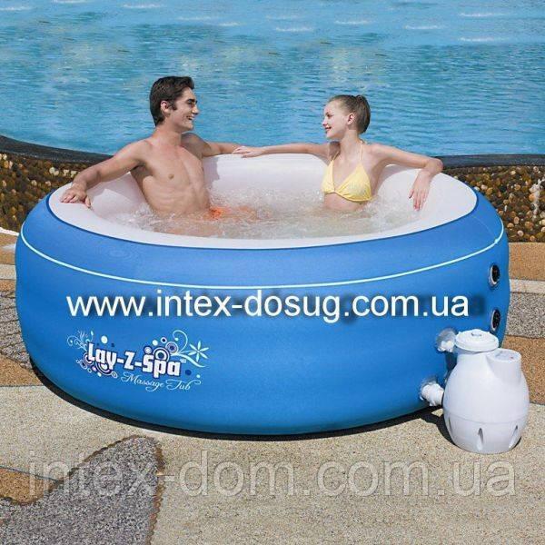 Надувной аэромассажный бассейн спа (джакузи) BestWay 54100 Lay-Z-SPA киев