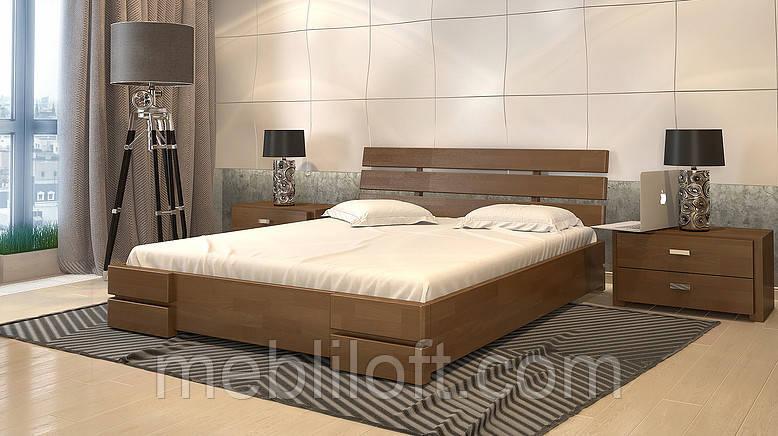 Кровать деревянная двуспальная Дали Люкс