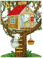 Схема для вышивки бисером POINT ART Дом, размер 15х20 см