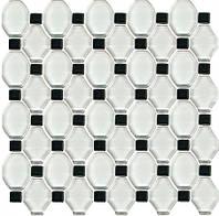 Плитка для ванной Paradyz Secret Bianco мозаика стеклянная