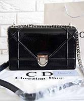 Женская сумка DIOR DIORAMA METALLIC BLACK (2301)