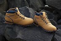Кожаные зимние утепленный ботинки коричневого цвета EXPANDER CAT 43-46 код: 6511166469