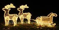 Новый год украшения олень с саньми 1,5м