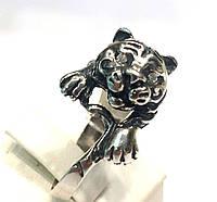 Серебряное кольцо Тигр