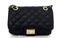 Женская сумка - клатч через плече Эко-кожа. Черная, фото 1