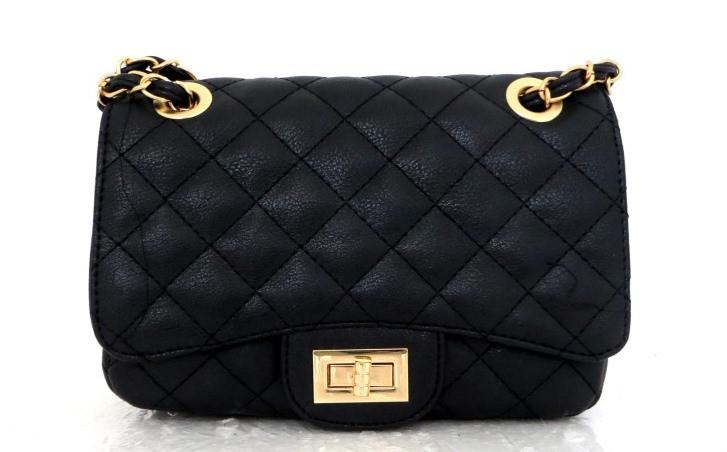 Женская сумка - клатч через плече Эко-кожа. Черная