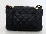 Женская сумка - клатч через плече Эко-кожа. Черная, фото 2