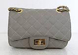 Женская сумка - клатч через плече Эко-кожа. Черная, фото 6