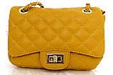Женская сумка - клатч через плече Эко-кожа. Черная, фото 8