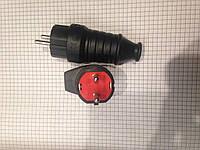Вилка электрическая каучуковая с заземлением