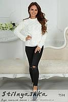 Женский красивый свитер Лало молоко