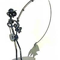 Техно-арт статуэтка Рыбалка металл