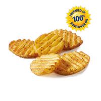 Рифленые картофельные кружочки с кожурой со специями замороженные