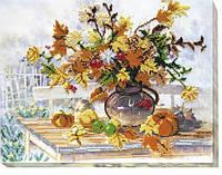 Набор для вышивки бисером на холсте Осенний букет AB-496