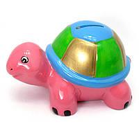 Копилка Черепаха розовая 29695A