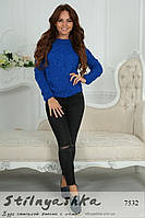 Женский красивый свитер Лало индиго, фото 1