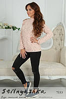Женский красивый свитер Лало персик