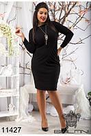 Стильное  Платье женское с бижутерией  (50-56),доставка по Украине