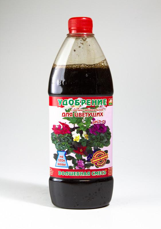"""Органо-минеральное удобрение ТМ """"Чистый лист"""". Волшебная смесь (500 мл), для цветущих растений"""