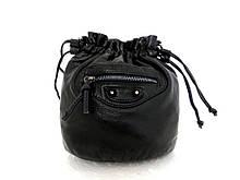 Женская сумочка - мешок  через плече Эко-кожа. Черная