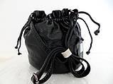 Женская сумочка - мешок  через плече Эко-кожа. Темно-серый, фото 2