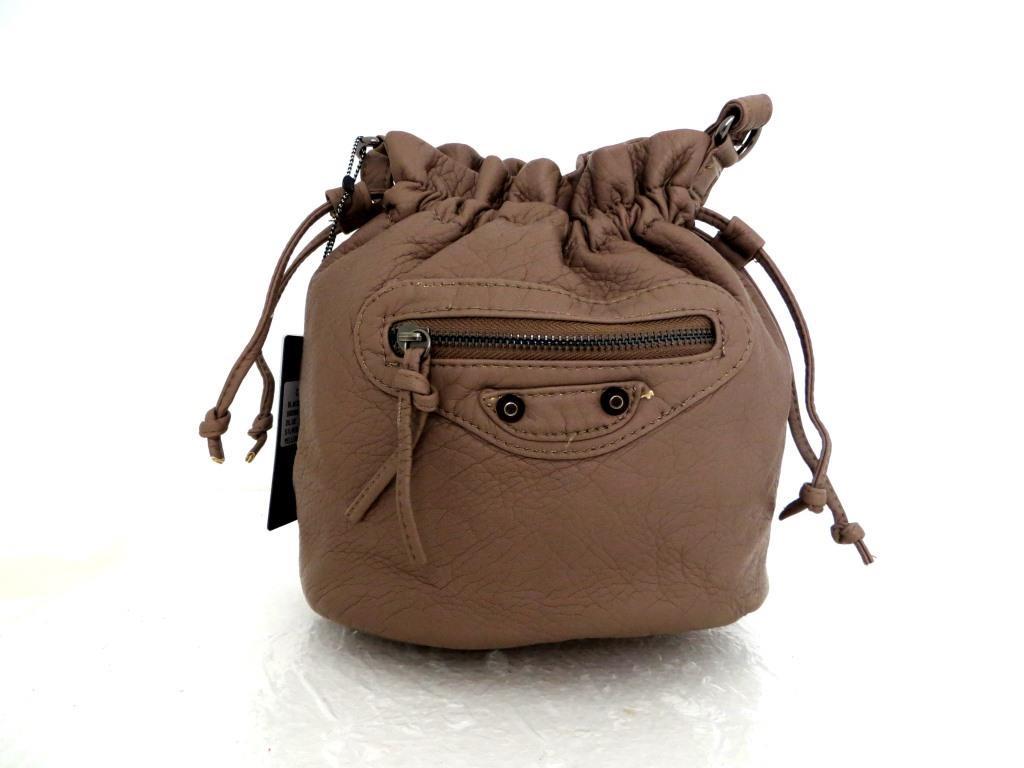 Женская сумочка - мешок  через плече Эко-кожа. Капучино
