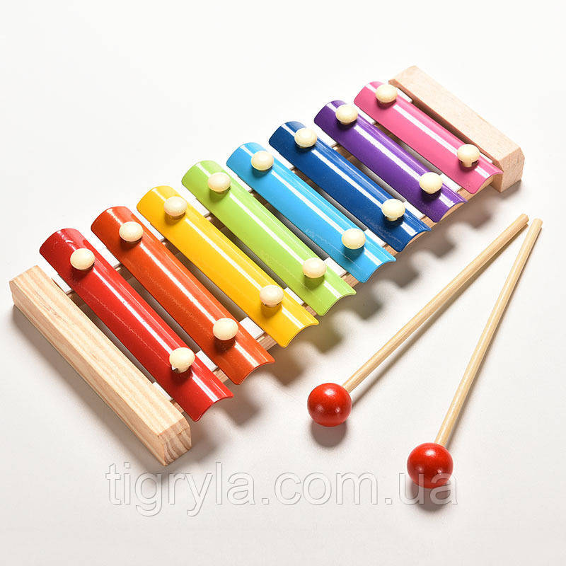Деревянная игрушка ксилофон, металофон