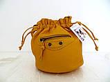 Женская сумочка - мешок  через плече Эко-кожа. Темно-серый, фото 7