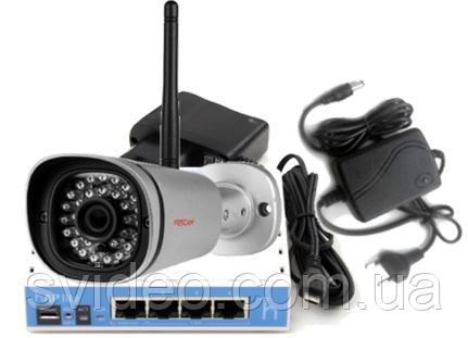 Комплект уличной IP камеры Foscam FI9800P  Wi Fi с блоком питания, роутером для облачного сервиса