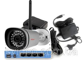 Комплект уличной IP камеры Foscam FI9800P  Wi Fi с блоком питания, роутером для облачного сервиса, фото 2