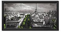 Картина в раме Париж с высоты птичьего полёта