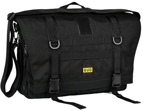 Функциональная черная сумка-мессенджер GUD 001