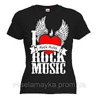 """Футболка """"I Love Rock music"""""""