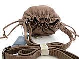 Женская сумочка - мешок  через плече Эко-кожа. Капучино, фото 3