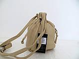 Женская сумочка - мешок  через плече Эко-кожа. Желтая, фото 3