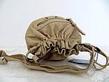Женская сумочка - мешок  через плече Эко-кожа. Желтая, фото 5